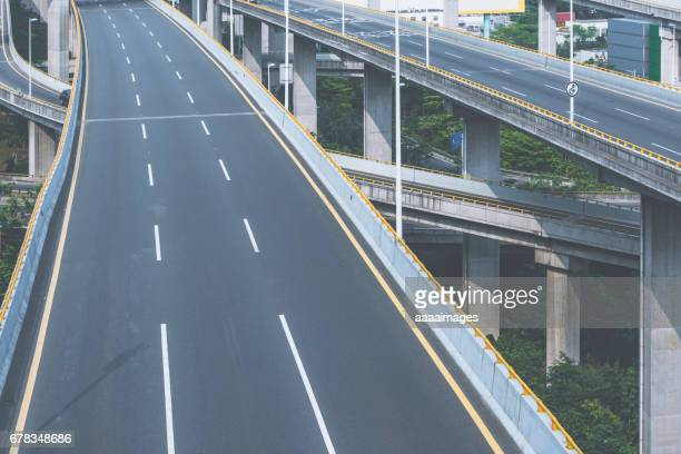 aerial view of Shanghai highway at daytime