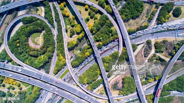 Luftaufnahme von Shanghai Highway