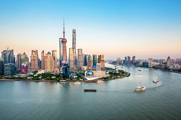 Aerial View Of Shanghai Wall Art