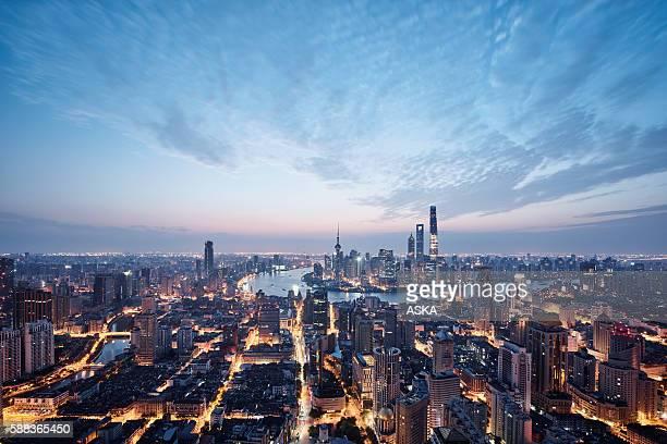 Luftbild von Shanghai