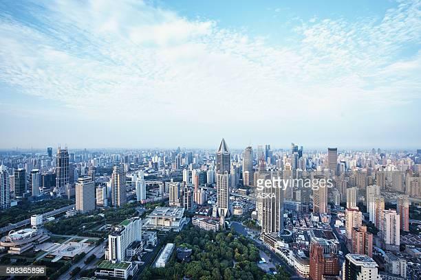 Vue aérienne de Shanghai