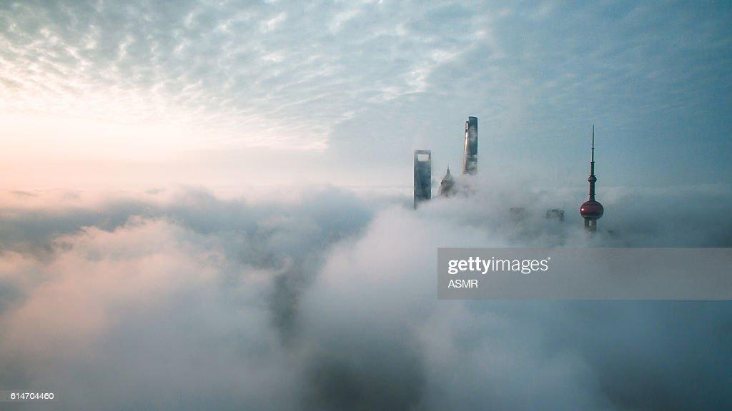 Aerial View Of Shanghai : Foto de stock