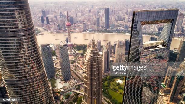 上海の空撮
