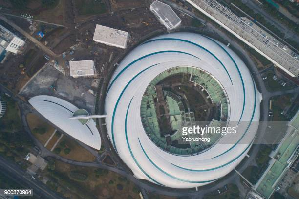 aerial view of Shanghai Synchrotron Radiation Facility buildings,China