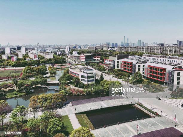 Aerial view of Shanghai university