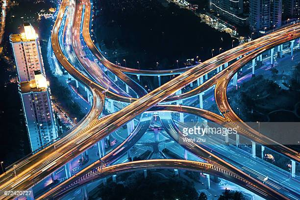 Aerial view of Shanghai's highway