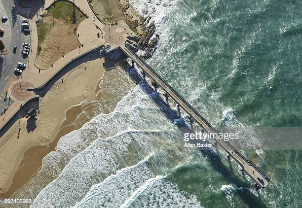 Aerial view of Shark Rock pier, Port Elizabeth