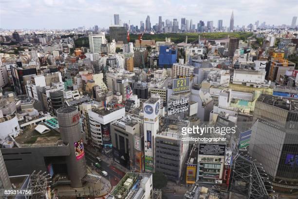Aerial view of Shibuya, Tokyo