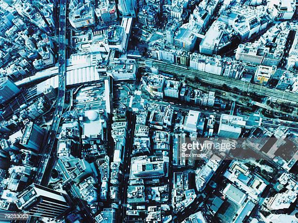 Aerial View of Shibuya-ku, Tokyo, Japan