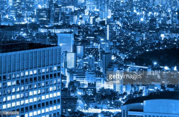 上空から見た東京の夜景