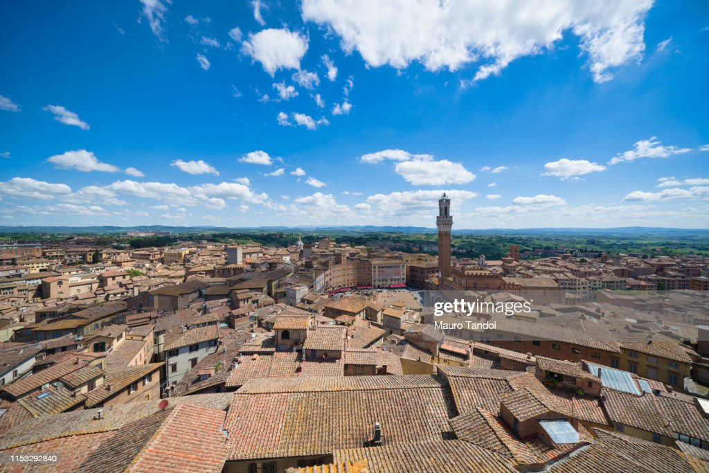 Aerial view of Siena in Tuscany, Italy : Foto stock