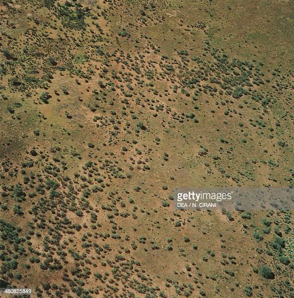 Aerial view of Simpson Desert in Northern Territory Australia