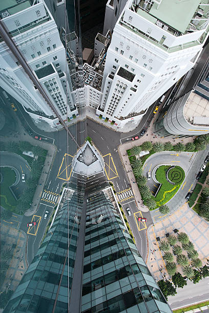 Aerial View Of Singaore's Financial District Wall Art