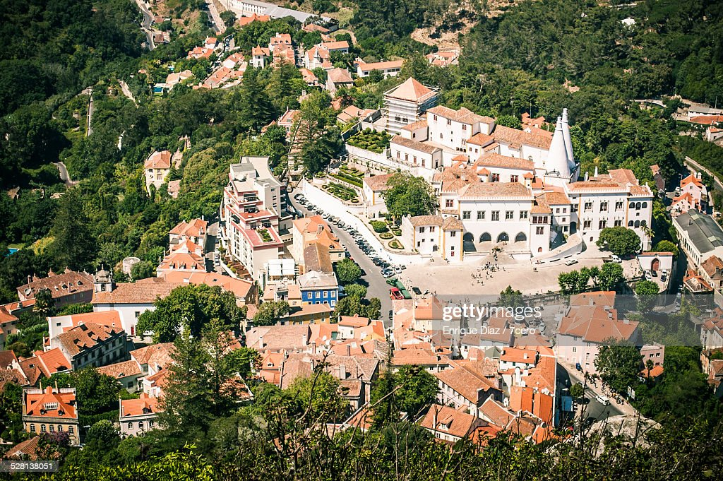 Aerial view of Sintra, Portugal : Stock Photo