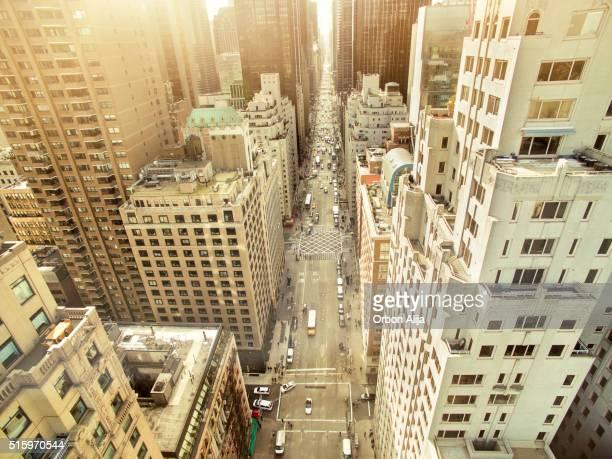 Luftaufnahme der Sechste Avenue
