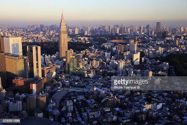 Aerial view of skyline of Shinjuku