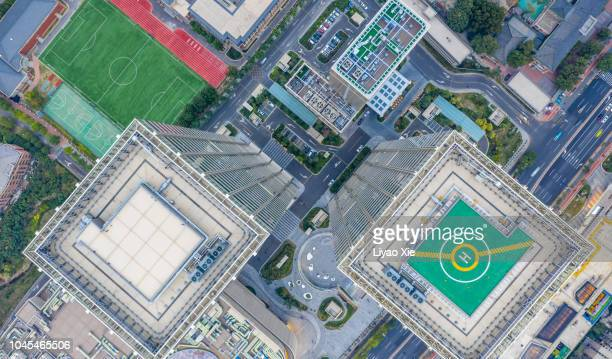 Aerial view of skyscraper