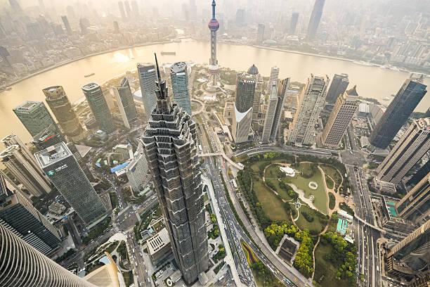 Aerial View Of Skyscrapers In Shanghai Wall Art