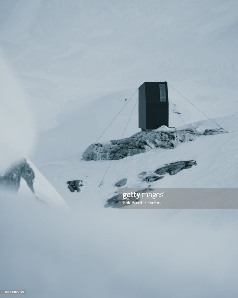 Aerial View Of Snow Covered Bivouac.. : Stock Photo