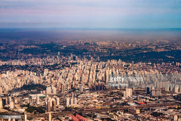 aerial view of são paulo - biggest stock pictures, royalty-free photos & images