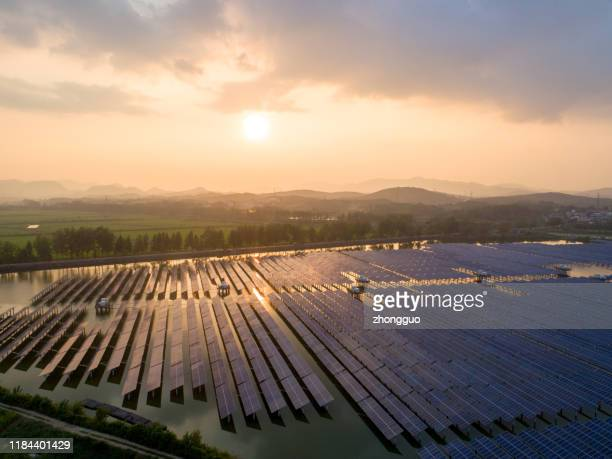 aerial view of solar cell field. - control panel stock pictures, royalty-free photos & images