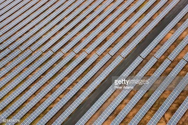 Aerial view of solar panels Huelva Province, Spain