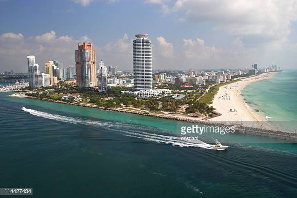 aerial view of South beach