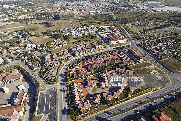 Aerial view of South End suburb, Port Elizabeth