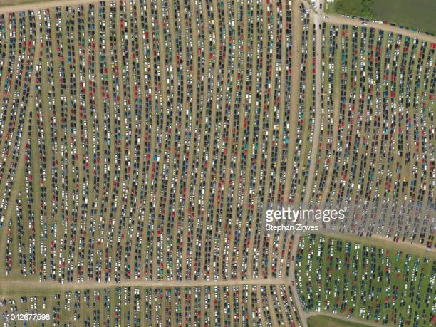 aerial view of southside festival, neuhausen ob eck, baden-wuerttemberg, germany - abundance stock pictures, royalty-free photos & images