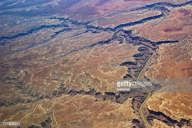 Vue aérienne du désert du sud-ouest américain