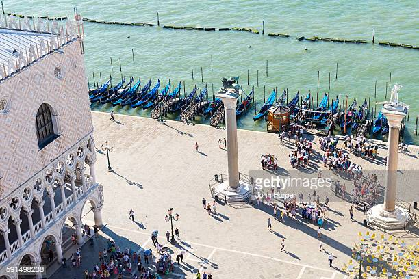 Aerial view of St. Mark's Square, Venice
