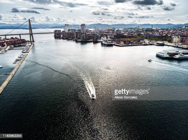 ノルウェーのスタヴァンゲルの航空写真 - スタバンゲル ストックフォトと画像