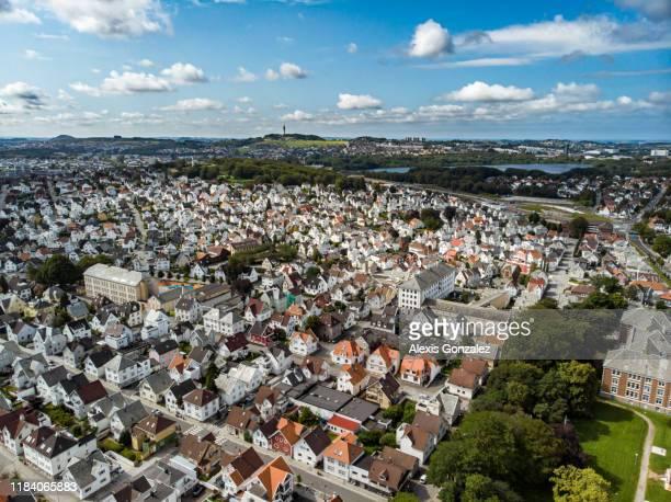 スタヴァンゲルの航空写真 - スタバンゲル ストックフォトと画像