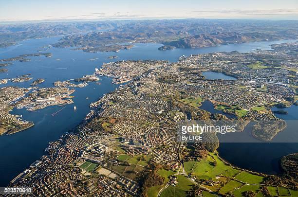 Aerial view of Stavanger