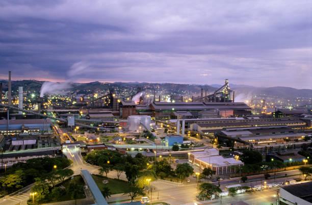 Aerial view of Steel mill, Volta Redonda, Rio de Janeiro State, Brazil