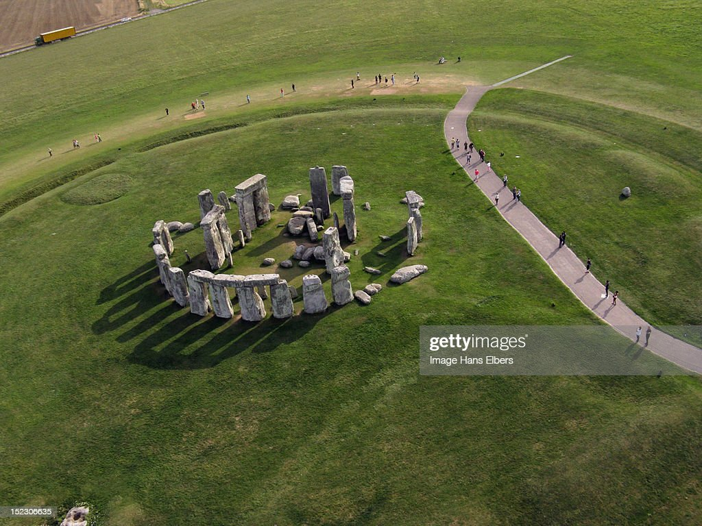 Aerial view of Stonehenge : Stock Photo