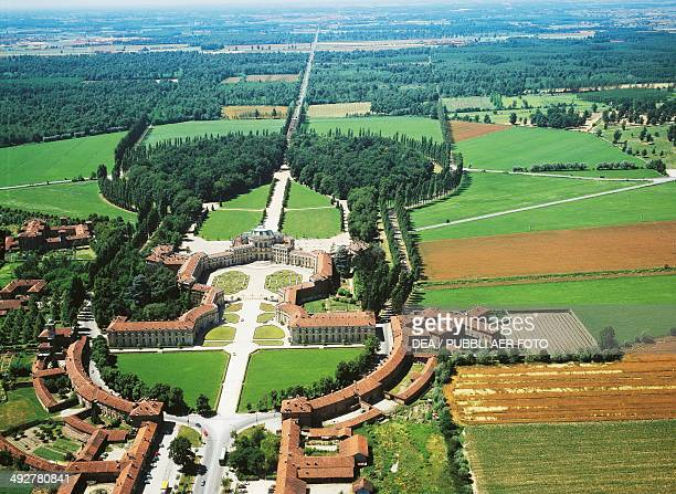 Aerial view of Stupinigi hunting residence and park 17291754 architect Filippo Juvarra Piedmont Italy