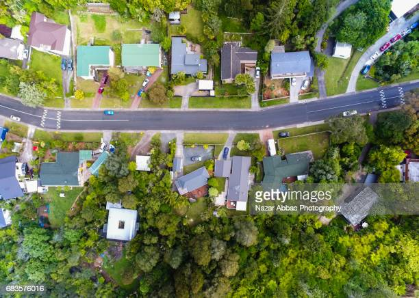 Aerial View Of Suburb In Auckland, New Zealand.