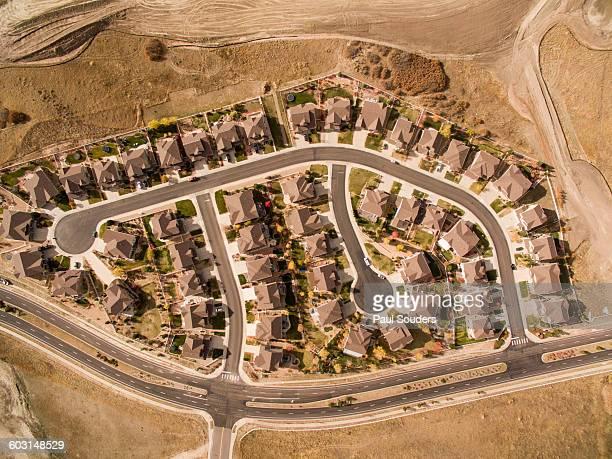 Aerial View of Suburbs, Castle Rock, Colorado