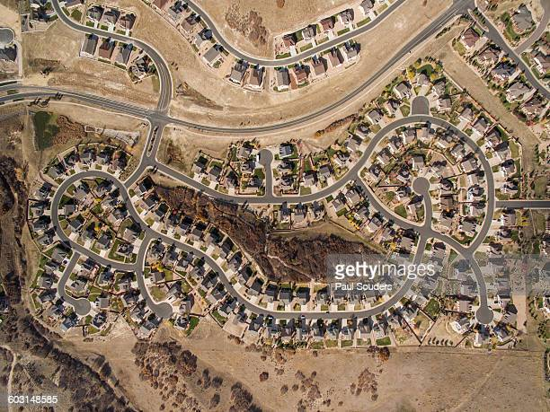 Aerial View of Suburbs, Castle Rock, Colorado