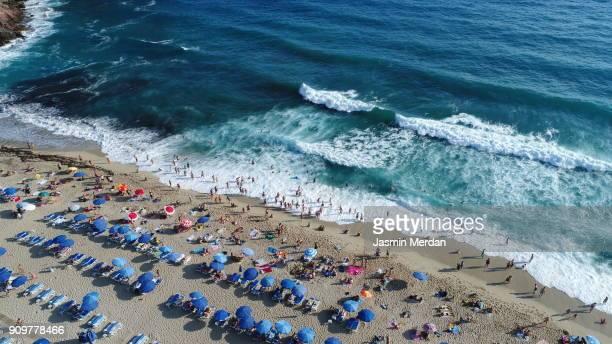 Aerial view of summer sea beach