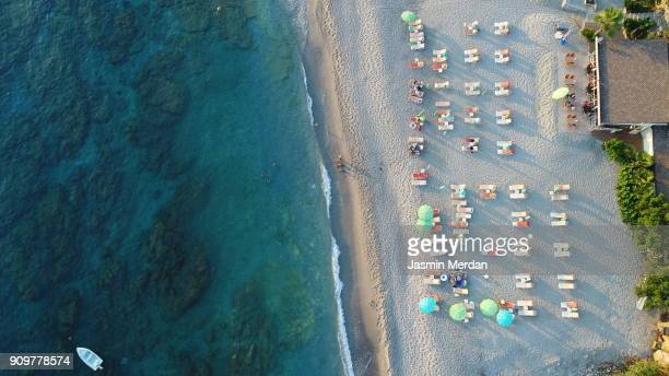 aerial view of summer sea beach - tenerife stock pictures, royalty-free photos & images
