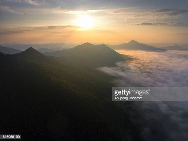 Aerial view of sunrise