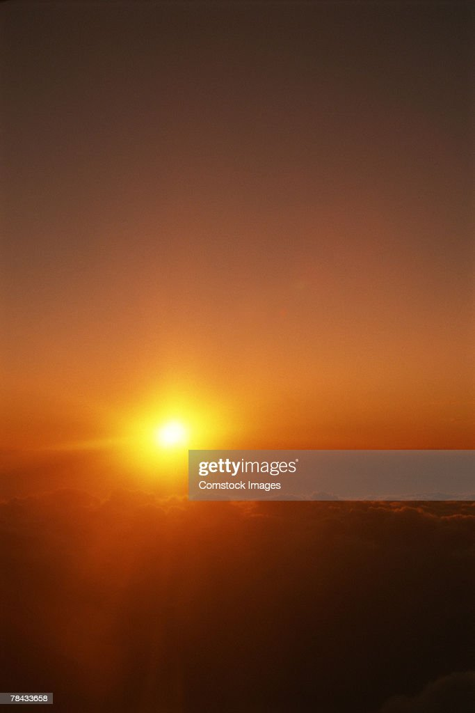 Aerial view of sunrise : Stockfoto