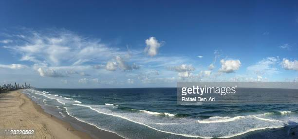 aerial view of surfers paradise, gold coast, australia - rafael ben ari stock pictures, royalty-free photos & images