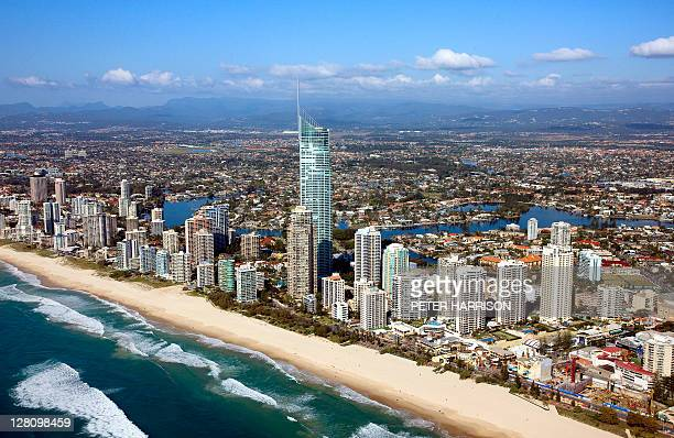 Aerial view of Surfers Paradise. Gold Coast, QLD, Australia