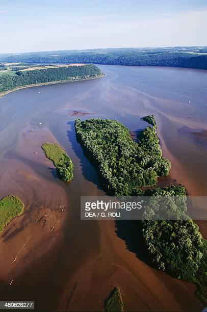 Aerial view of Susquehanna River Pennsylvania United States of America