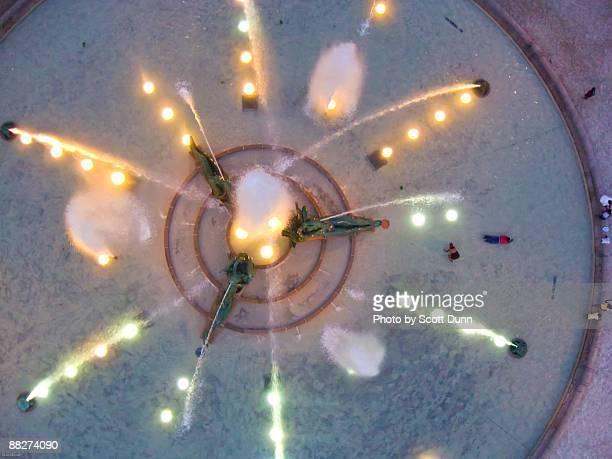 Aerial view of Swann Memorial Fountain