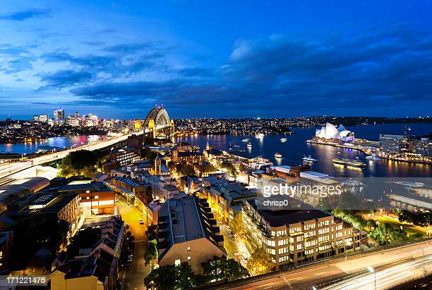 Aerial View of Sydney at Dusk