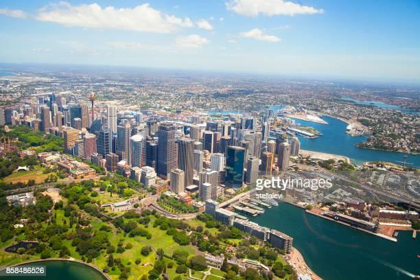 Aerial view of Sydney, Austarlia